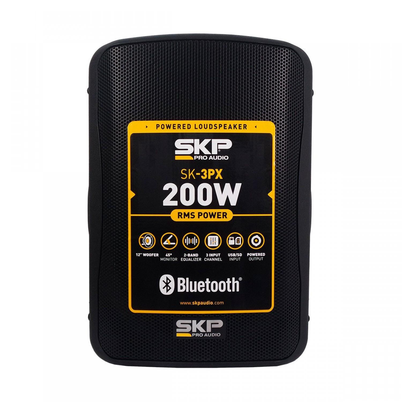 Caixa Ativa 200W SKP SK 3PX Preta