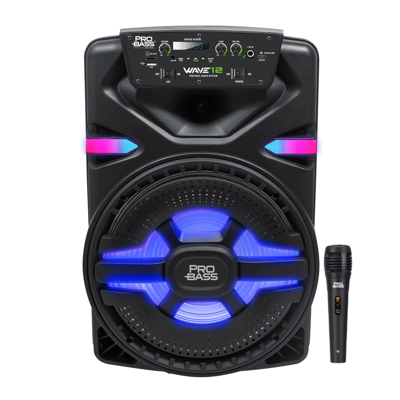 Caixa de Som Ativa com Bateria e Bluetooth Pro Bass Wave 12