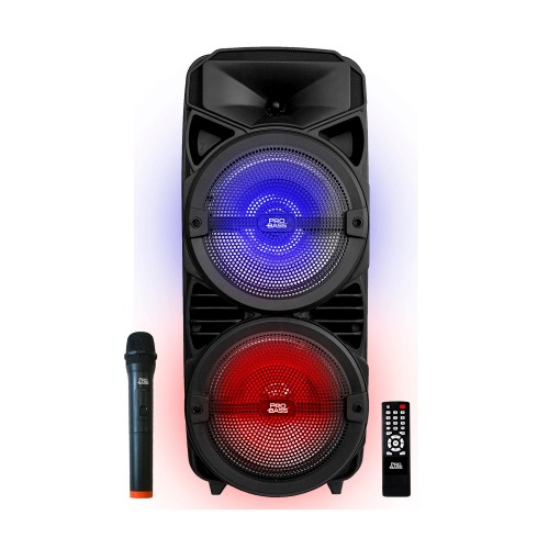 Caixa de Som Ativa com Bateria e Bluetooth Pro Bass Wave 208
