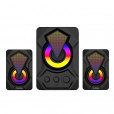 Caixa de Som Gamer Targa Diamond Pro 2.1 com Subwoofer