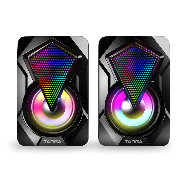 Caixa de Som Gamer Targa Diamond X com Iluminação