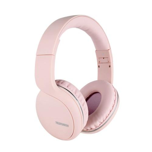 Fone de Ouvido Bluetooth Sem Fio Telefunken FH 600 BT Rosa