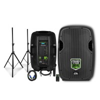Kit Caixas com Tripé e Microfone Pro Bass Power Stage 215