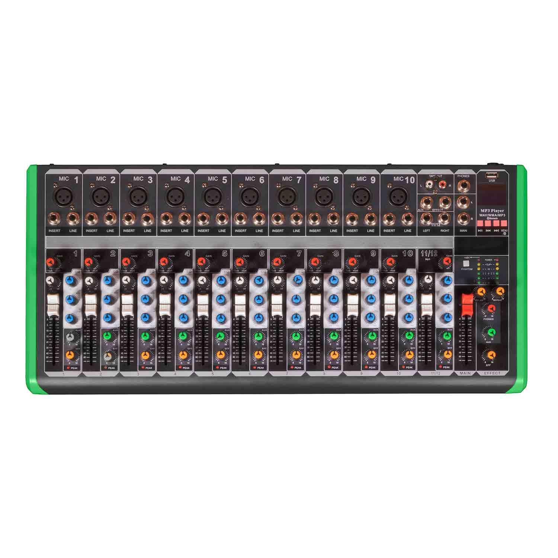 Mesa Mixer 12 Canais Pro Bass Ultra Slim PM 1624 Bluetooth