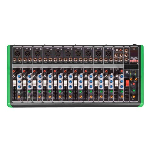 Mesa Mixer 12 Canais Pro Bass Ultra Slim PM 1624 Bluetooth
