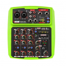 Mesa de Som 6 Canais com Interface USB Novik NVK I06 BT Verde