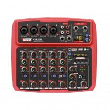Mesa de Som 8 Canais com Interface USB Novik NVK I08 BT Vermelha