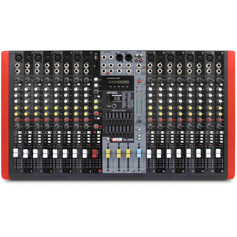 Mesa Mixer 16 Canais Novik Neo NVK 16M BT com Bluetooth