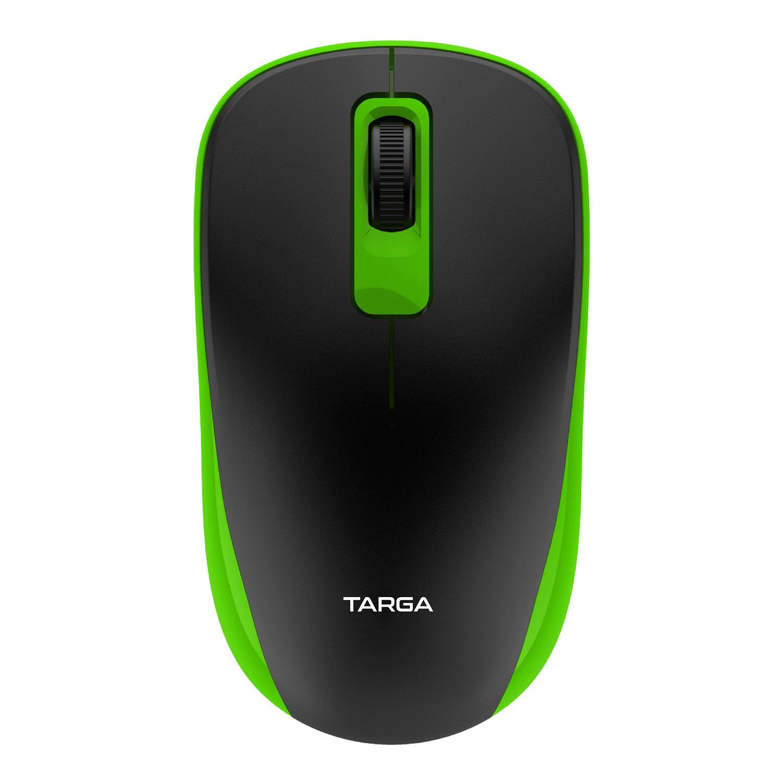 Mouse Óptico Sem Fio 1200 DPI Targa M70W Verde