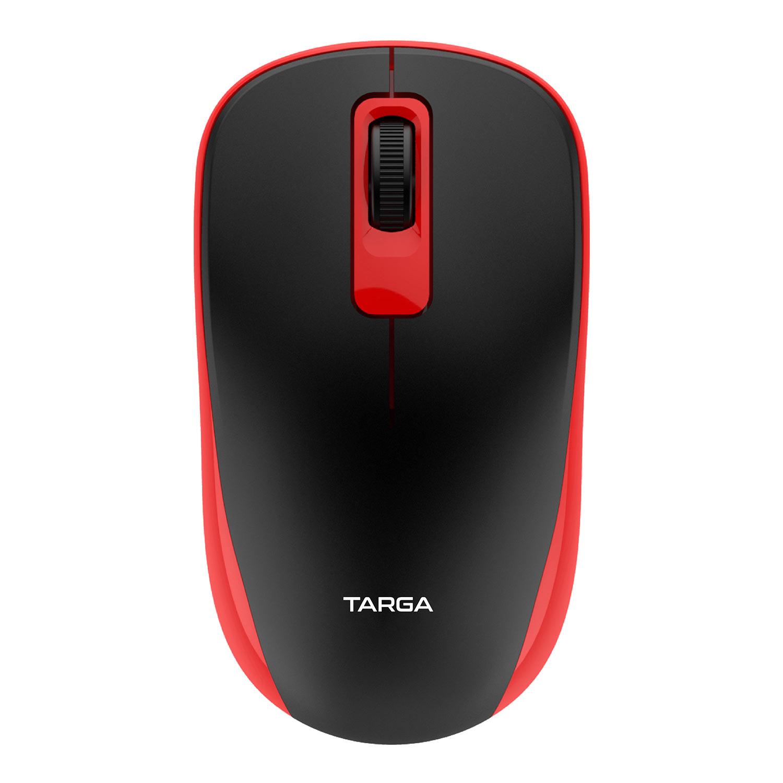 Mouse Óptico Sem Fio 1200 DPI Targa M70W Vermelho