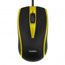Mouse Óptico USB com Fio 1200 DPI Targa M50 Amarelo