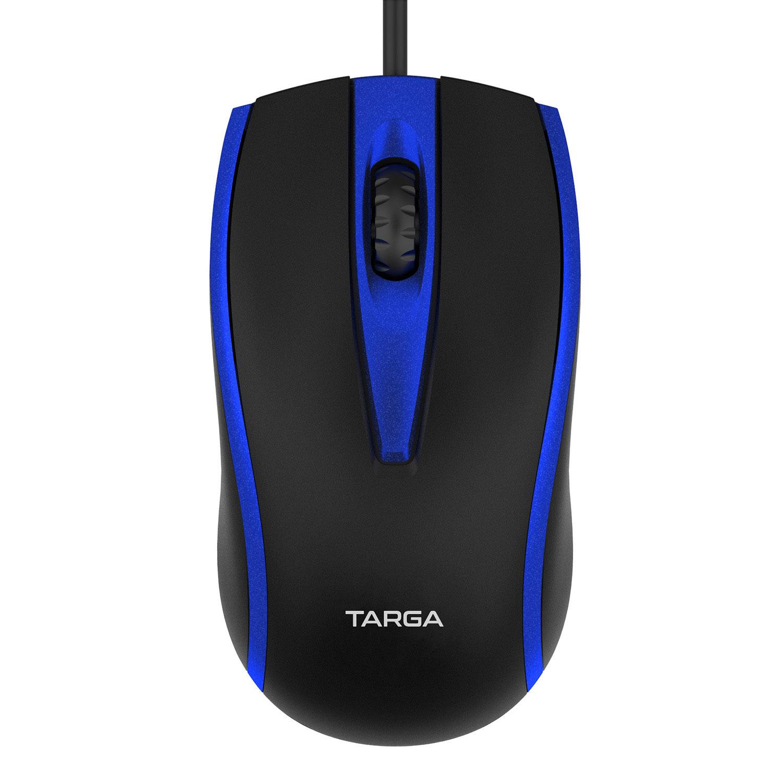Mouse Óptico USB com Fio 1200 DPI Targa M50 Azul