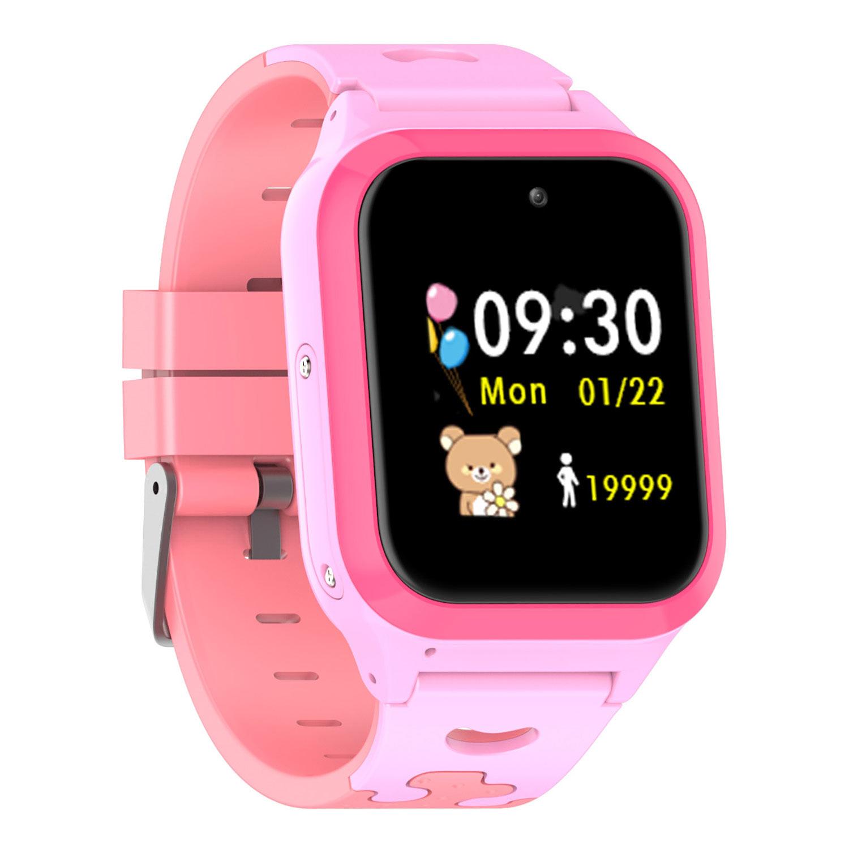 Relógio Infantil Inteligente Rastreador GPS Smart G Track Rosa