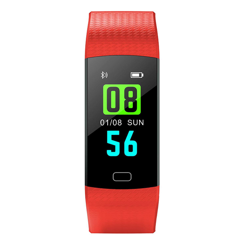 Relógio Pulseira Inteligente Targa Smartband 4 Vermelho