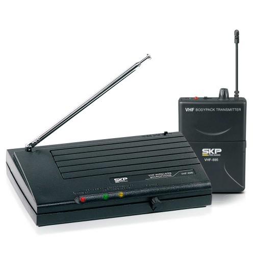 Sistema de microfone sem fio Headset SKP VHF 895