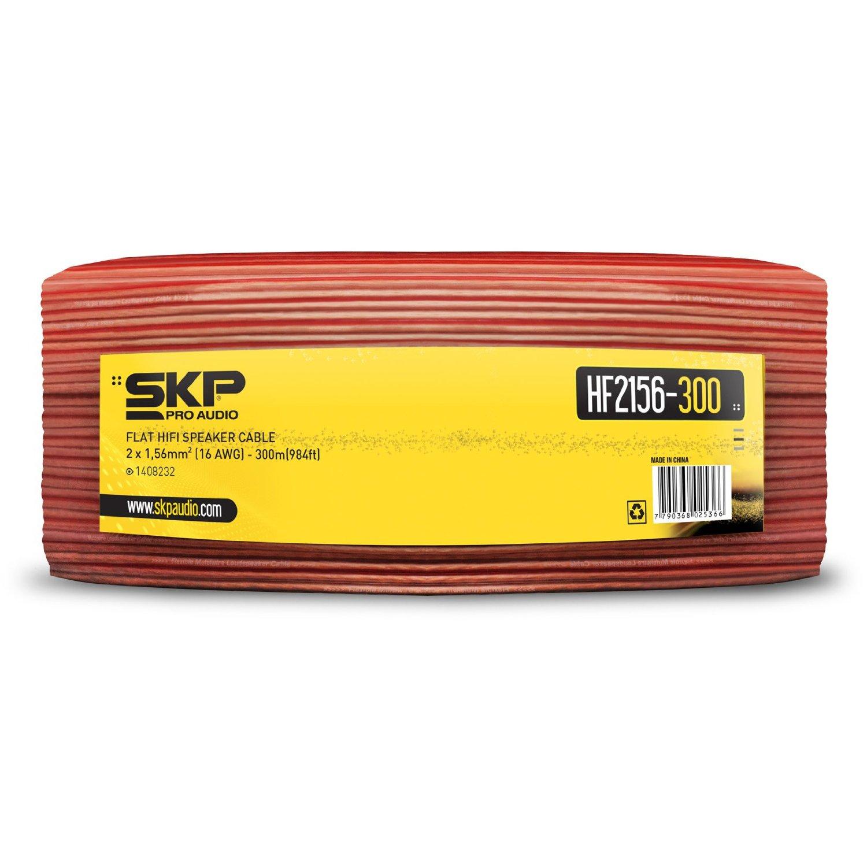 Cabo flat para Caixa Acústica 200 Metros SKP HF 2156-300 Vermelho