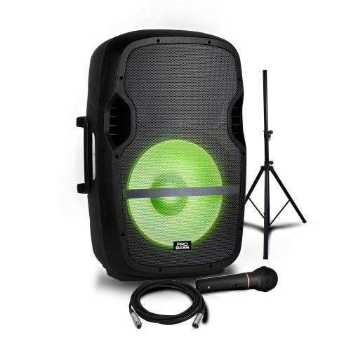 Caixa Ativa 15 pol. com Iluminação - Pro Bass Elevate LP