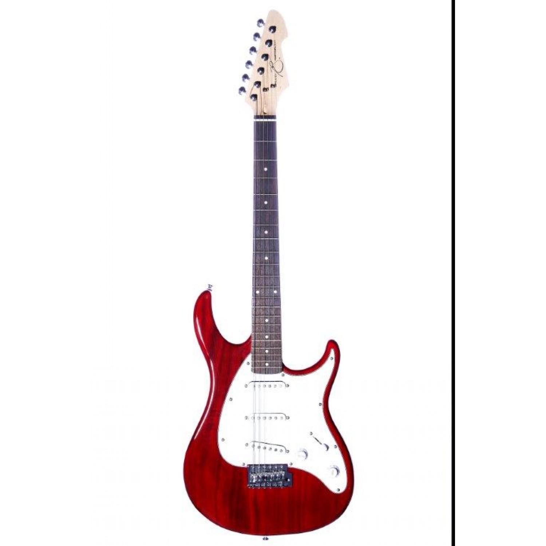 Guitarra Peavey Raptor SSS Vermelha Transparente