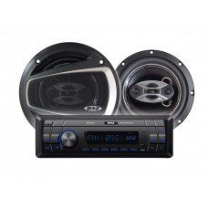 Kit Alto-Falantes 6 pol + Radio MP3 Player B52 ELK 236U