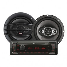 Kit Automotivo Mp3 Player + 2 Alto Falantes de 6.5 Novik Neo NVK-114