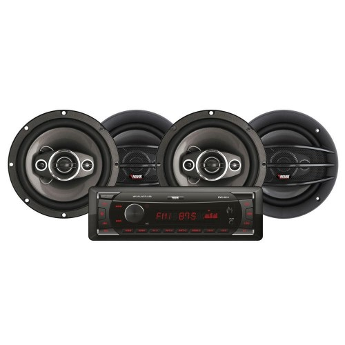 "Kit Automotivo Mp3 Player + 4 Alto Falantes de 6.5"" Novik Neo NVK214"