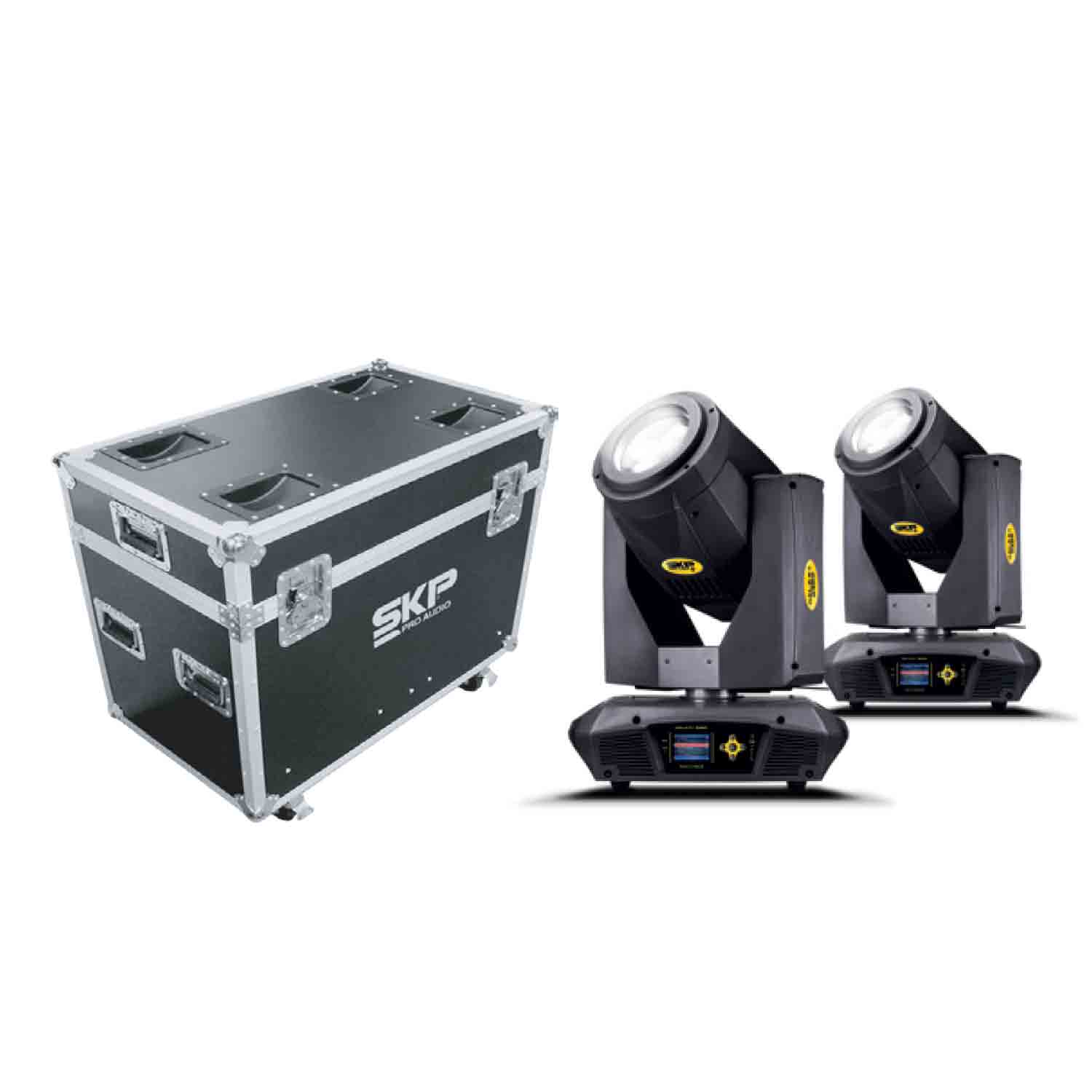 Kit Moving Head Beam, Spot e Wash 350W 17R + Fly Case SKP Pro Light