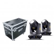 Kit Moving Head Beam, Spot e Wash 350W 17R + Fly Case SKP Pro Light