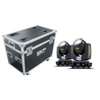 Kit Moving Head Beam e Wash 230W 7R + Fly Case SKP Pro Light
