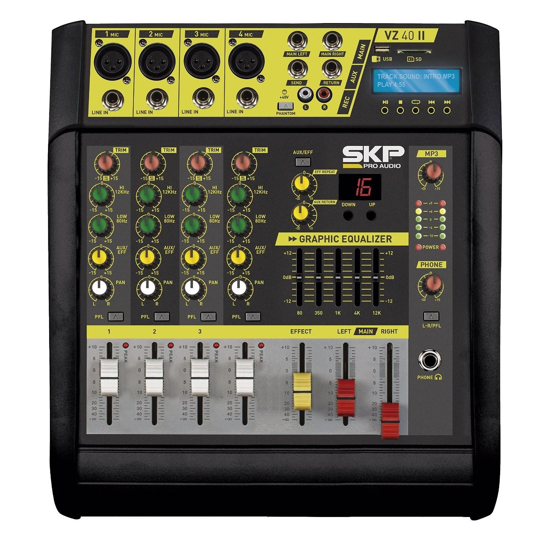 Mesa Amplificada 4 Canais 200W+200W SKP VZ-40 II