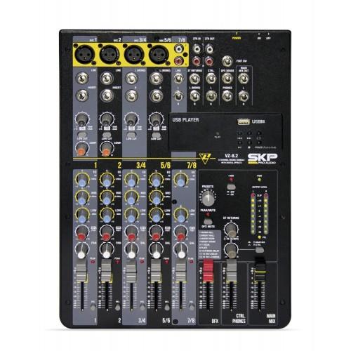 Mesa de som 8 Canais SKP VZ8.2 110V