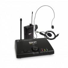 Microfone de Cabeça Headset e Transmissor Sem Fio UHF SKP MINI-V