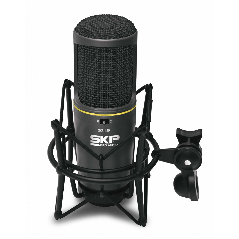 Microfone Condensador para Estúdio SKP SKS 420