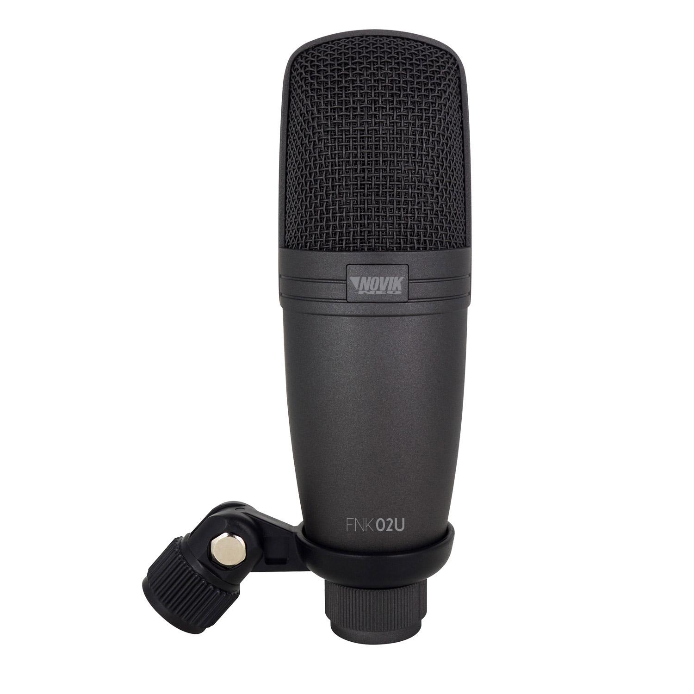 Microfone profissional de estúdio USB Novik Neo FNK02U