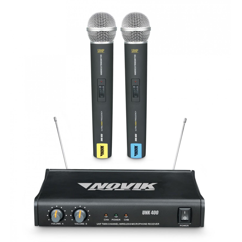 Microfone Sem Fio Duplo Novik Neo UNK 400