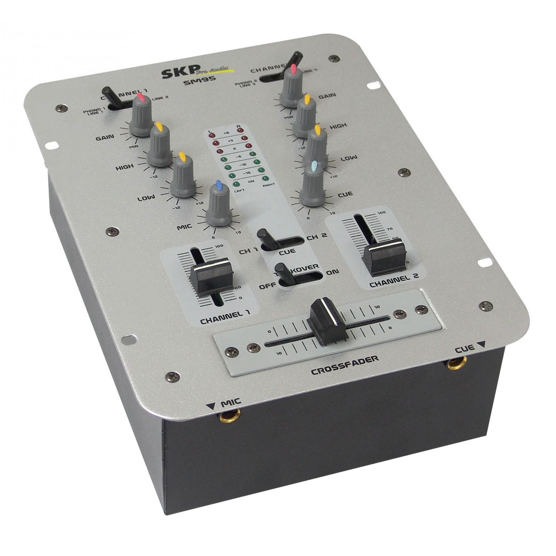 Mixer 2 Canais SKP SM 95 Cinza