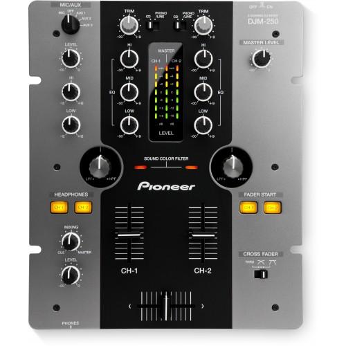 Mixer dois canais Pioneer DJM 250 Preto