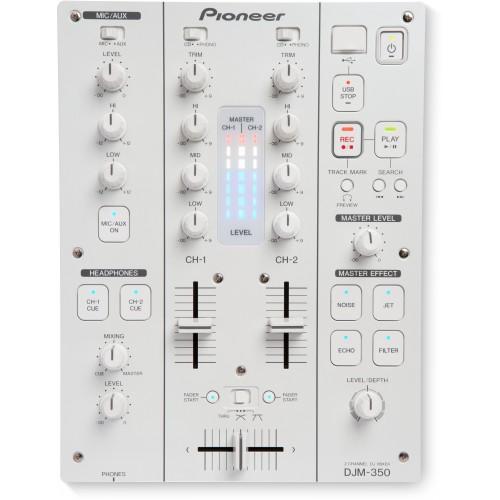 Mixer dois canais Pioneer DJM 350 Branco