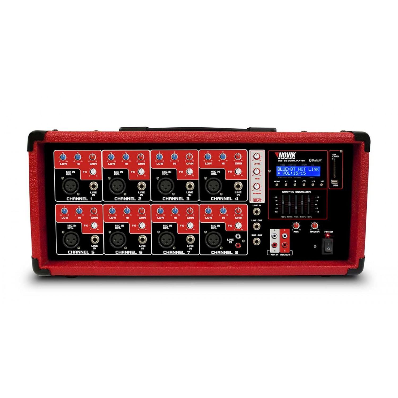 Mesa de som amplificada 8 Canais Novik Neo NVK 8500BT