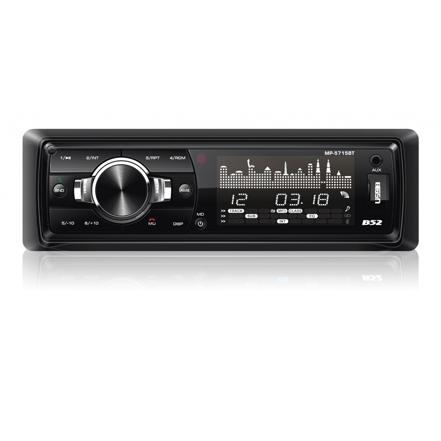 Rádio Automotivo com MP3 e Bluetooth B52 MP 5715 BT