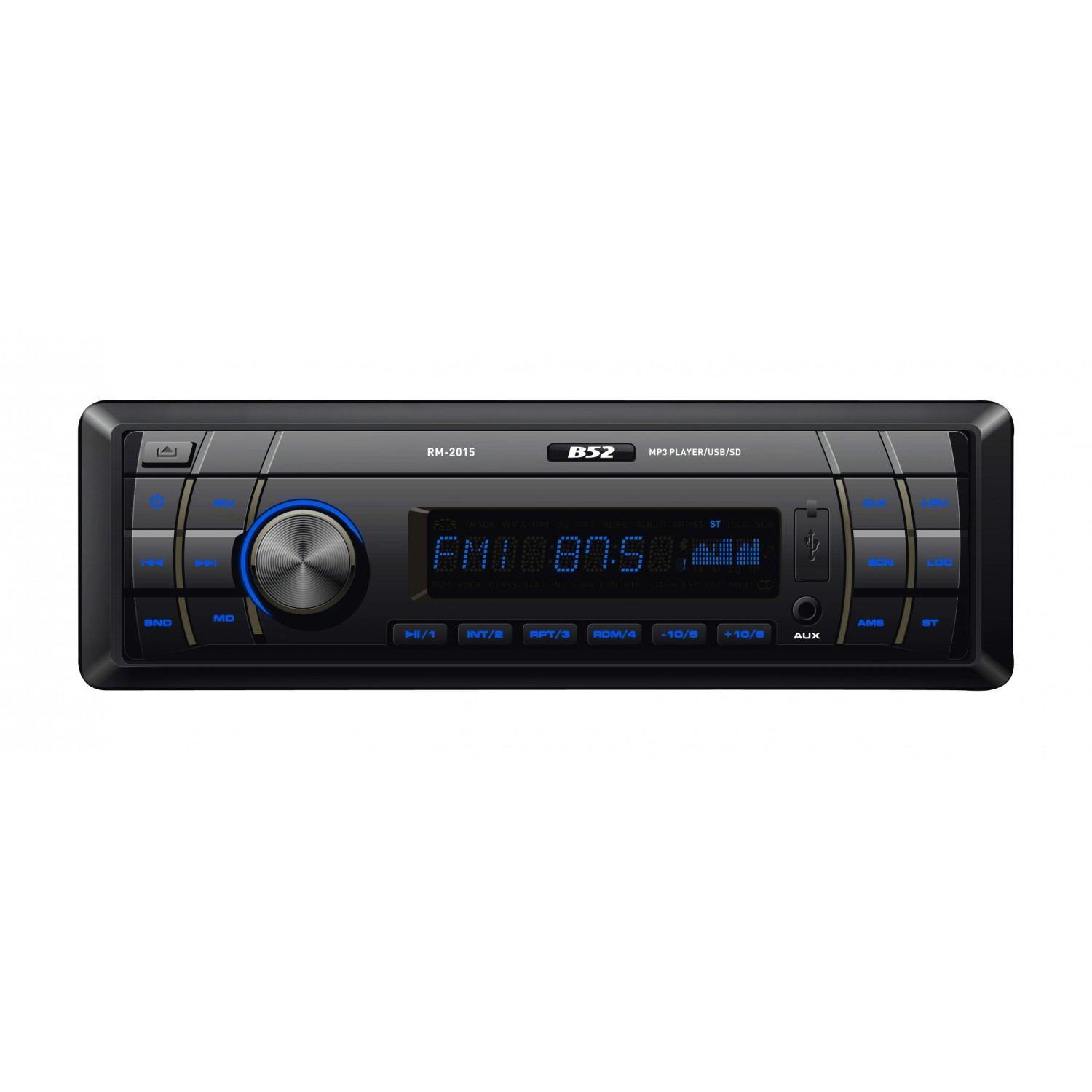 Rádio Automotivo com MP3 USB e SD B52 RM 2015