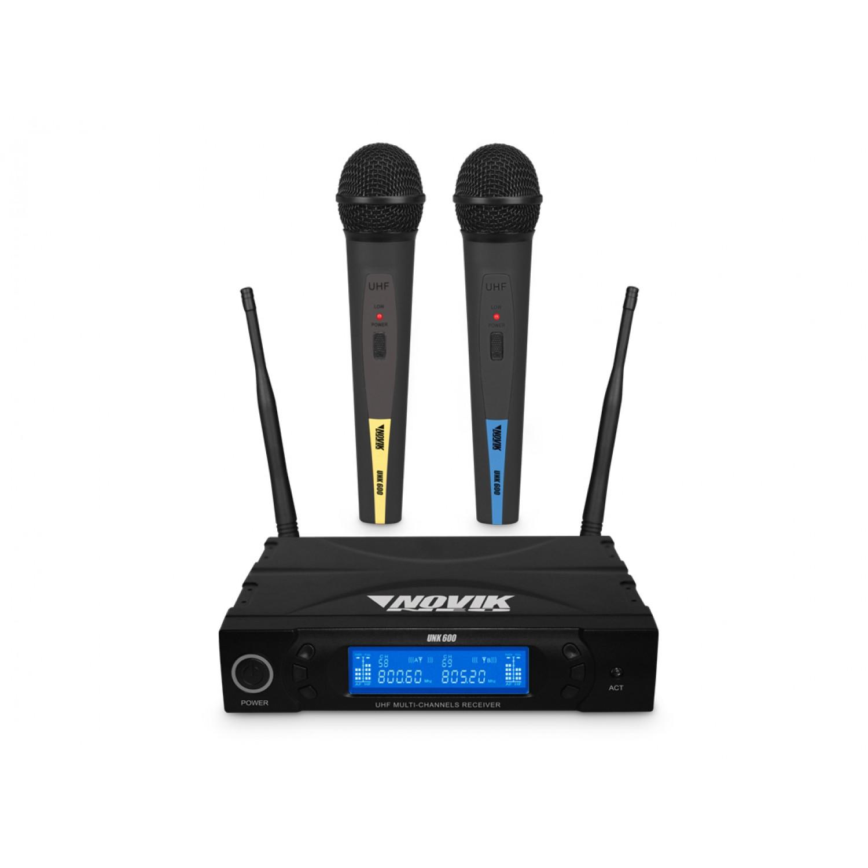 Sistema de Microfone de Mão Sem-Fio UHF Novik Neo UNK 600